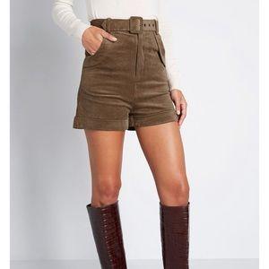 Modcloth Brown Corduroy shorts